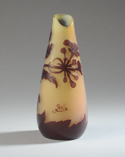 Galle Cameo Glass Vase - 5