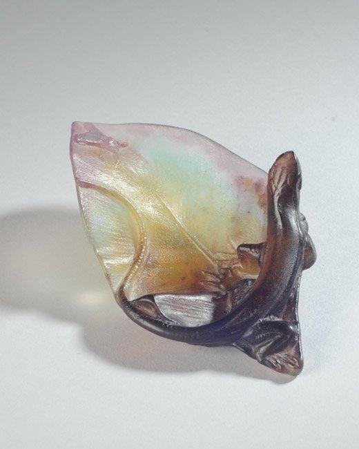 Daum France Art Glass Chameleon or Lizard - 2
