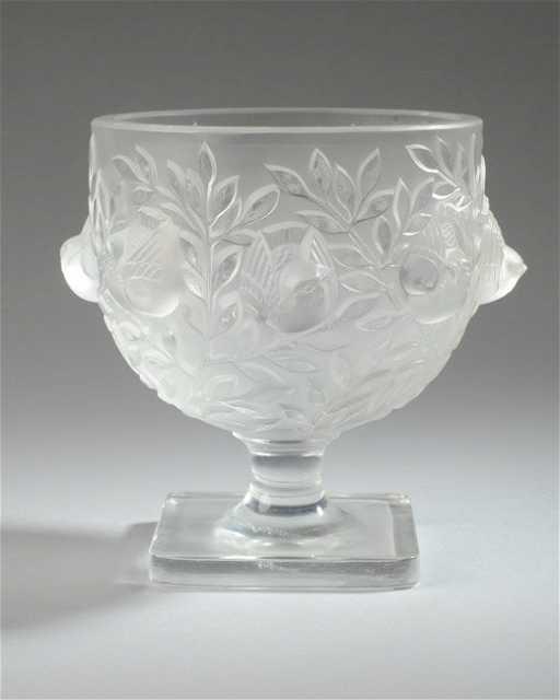 Lalique Elizabeth Vase Birds In Branches