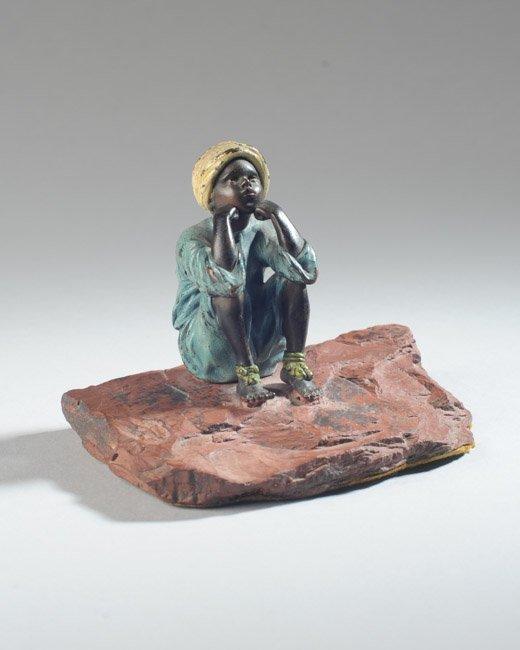 Franz Bergmann Austrian Bronze Boy