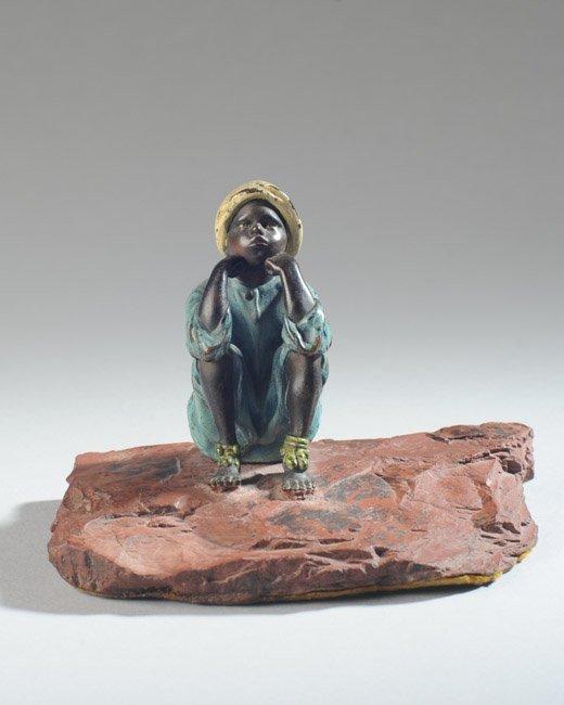 Franz Bergmann Austrian Bronze Boy - 2
