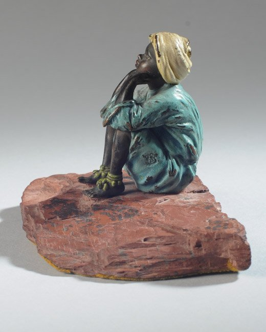 Franz Bergmann Austrian Bronze Boy - 3