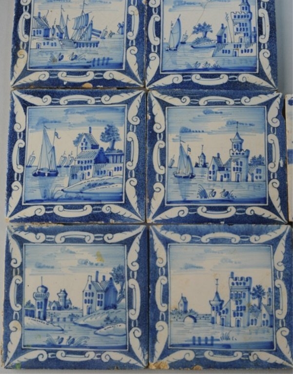 Seven 19th C. Dutch Scenic Tiles - 2