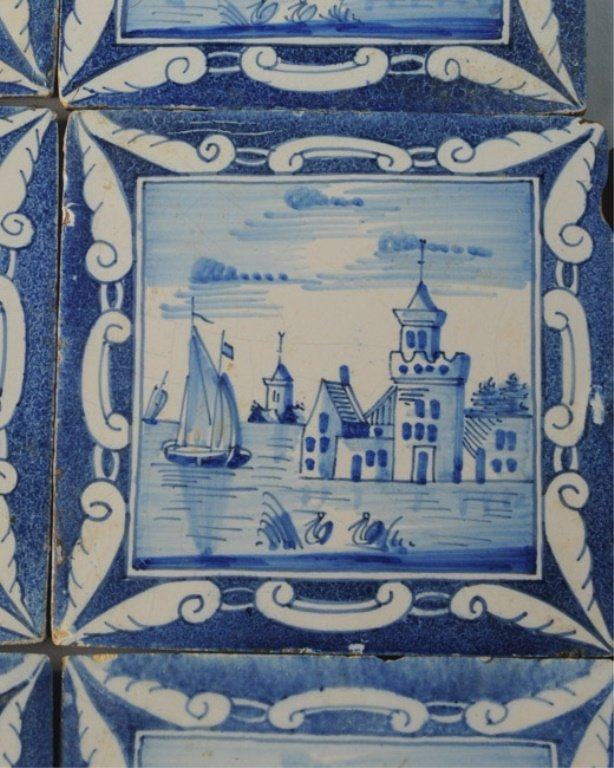 Seven 19th C. Dutch Scenic Tiles - 3
