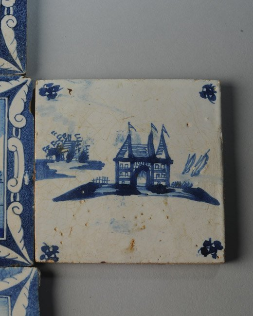 Seven 19th C. Dutch Scenic Tiles - 4