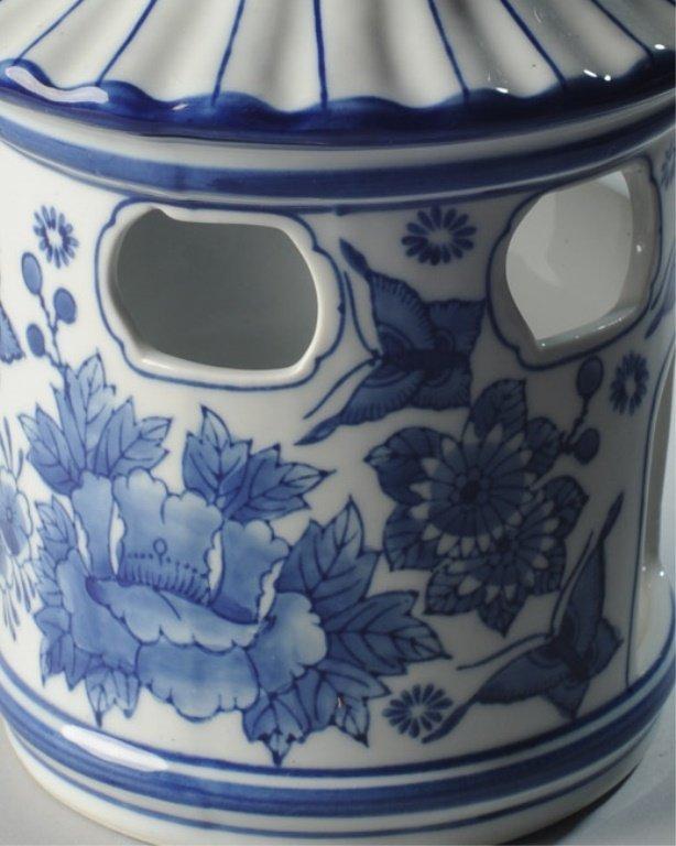 Porcelain Pagoda Shaped Bird Feeder - 2