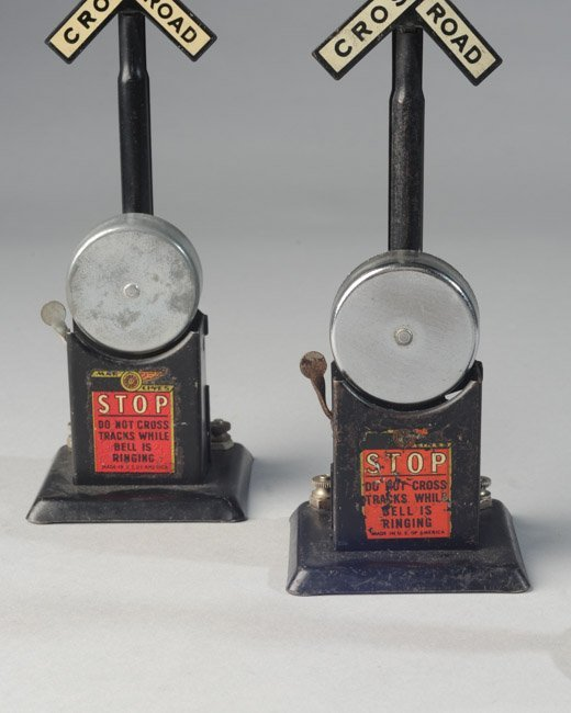 Lot of Three Railroad Crossing Signals, Marx Etc. - 2