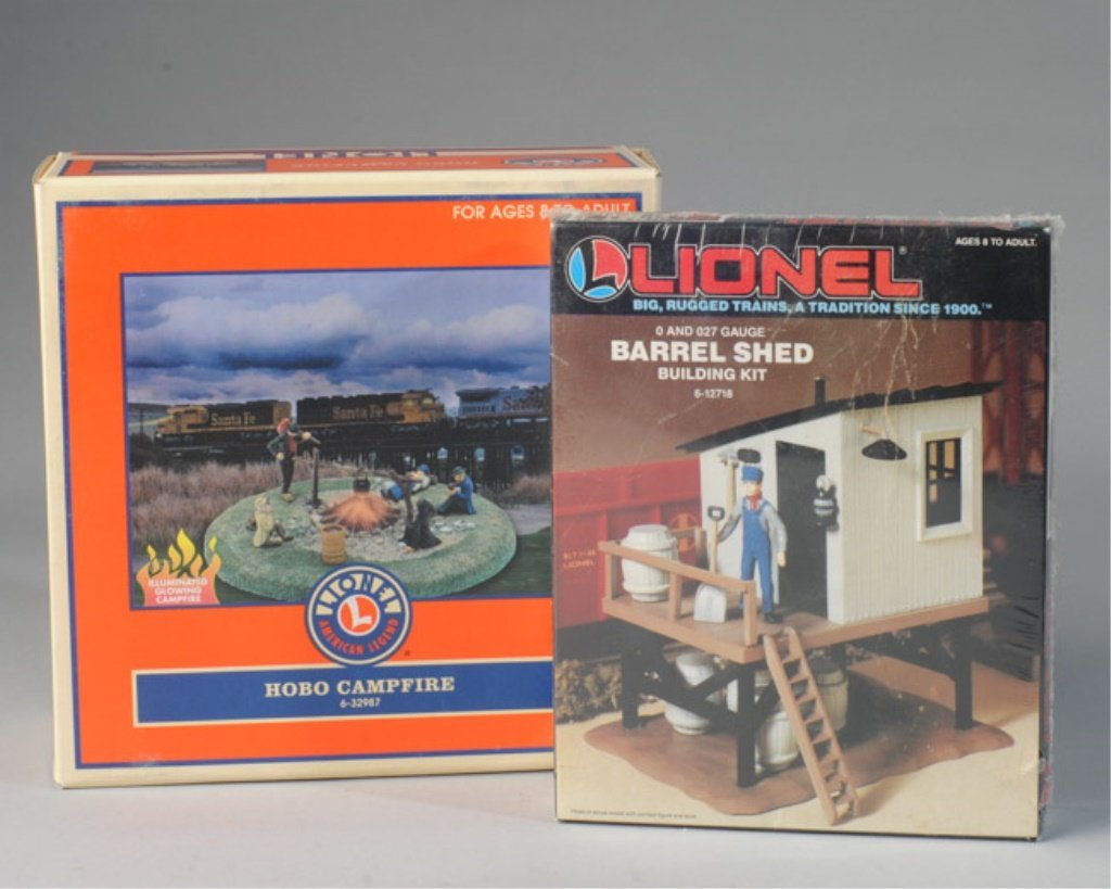 Lionel Hobo Campfire and Barrel Shed Kit