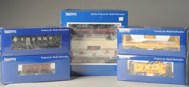 Lot of 6 Industrial Rail Cars O27 Scale NIB