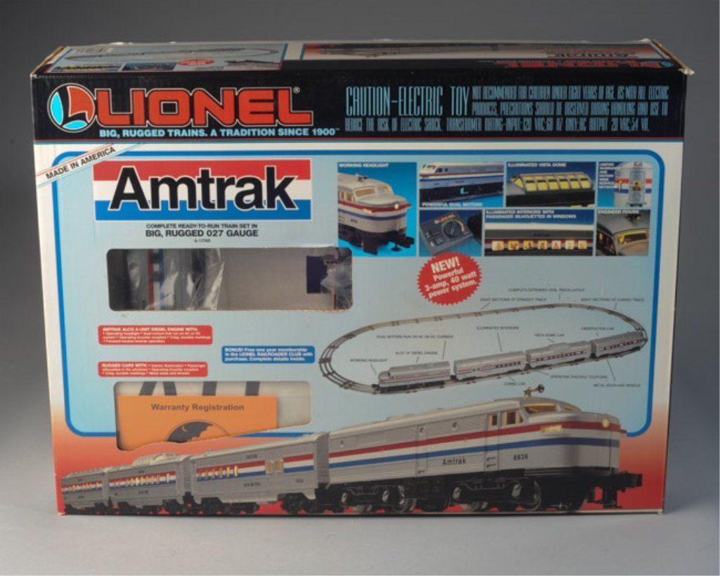 Lionel 6-11748 Amtrak Set with Trains / Cars Only