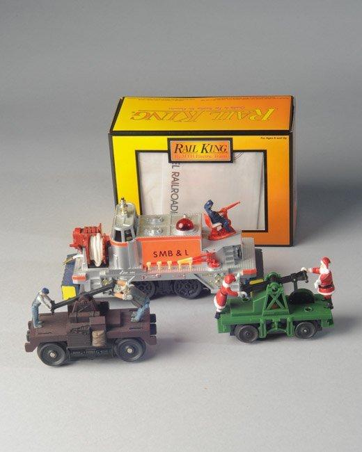Lionel 52 Fire Car, MTH Hand Car, Santa Hand Car