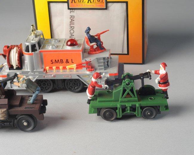 Lionel 52 Fire Car, MTH Hand Car, Santa Hand Car - 2