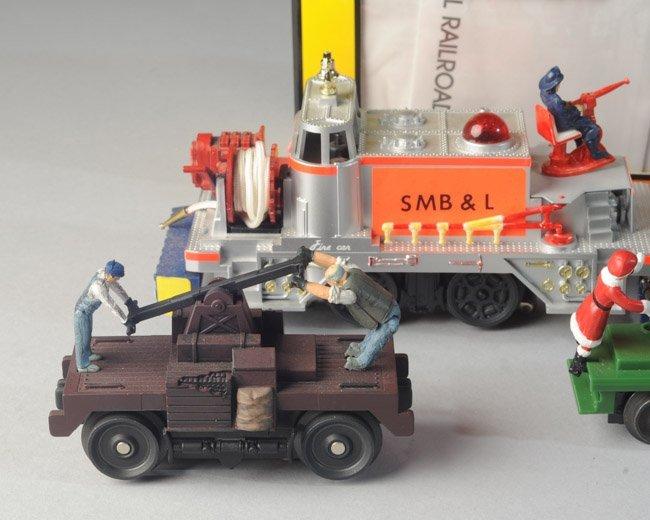 Lionel 52 Fire Car, MTH Hand Car, Santa Hand Car - 3