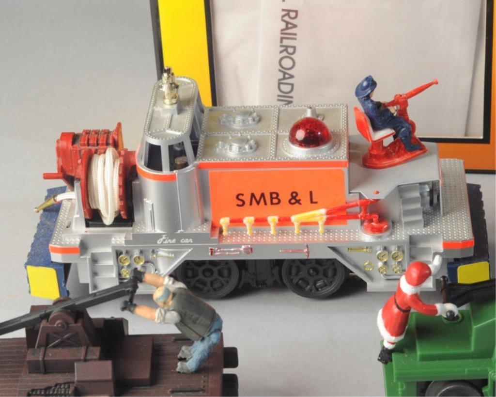 Lionel 52 Fire Car, MTH Hand Car, Santa Hand Car - 4