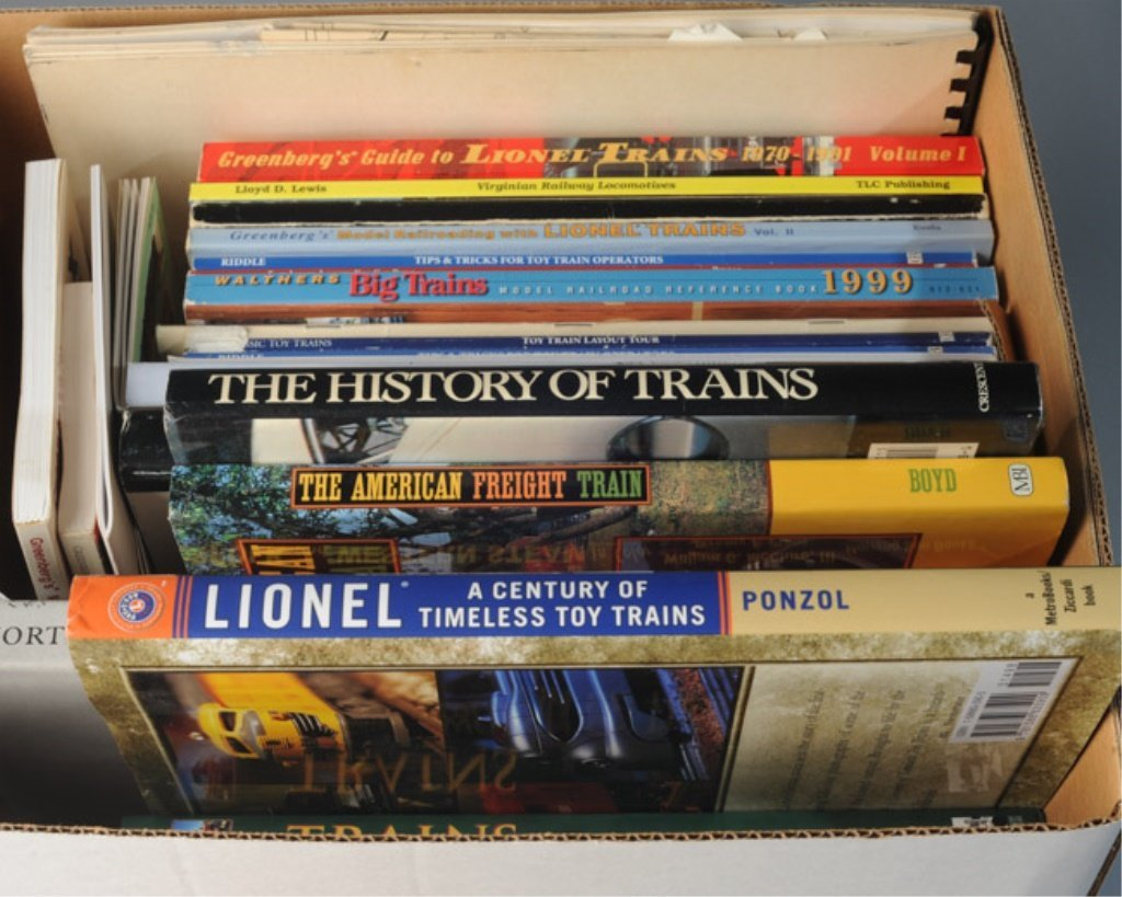 Box Lot of Train Books - 3