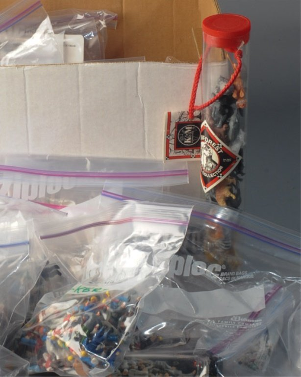 Box Lot of Miniature Figurines for Train Sets etc. - 2