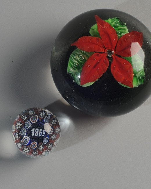 Two Small Glass Paperweights - 2