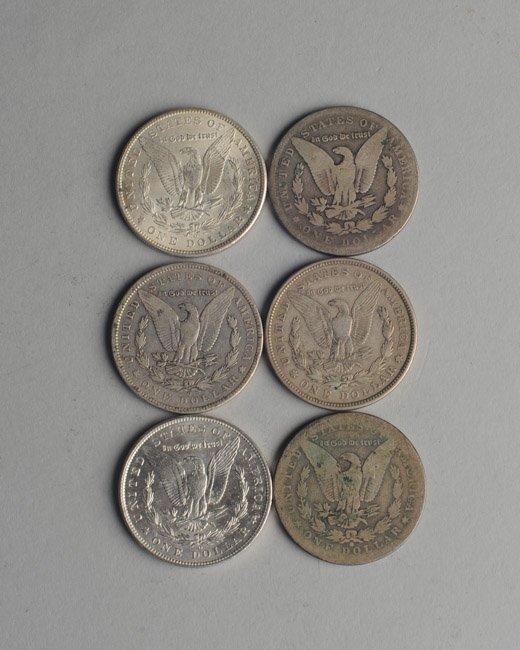 Six Morgan Silver Dollars - 2