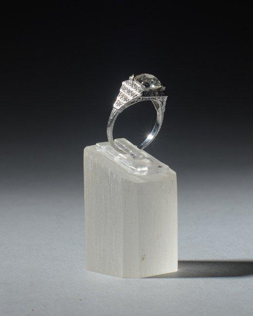Platinum and 3+ Carat Diamond Ring