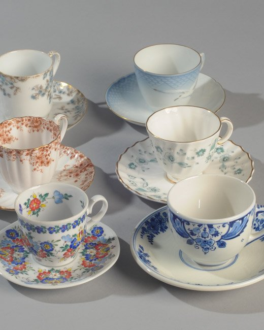 Six Demitasse Cups and Saucers - 2