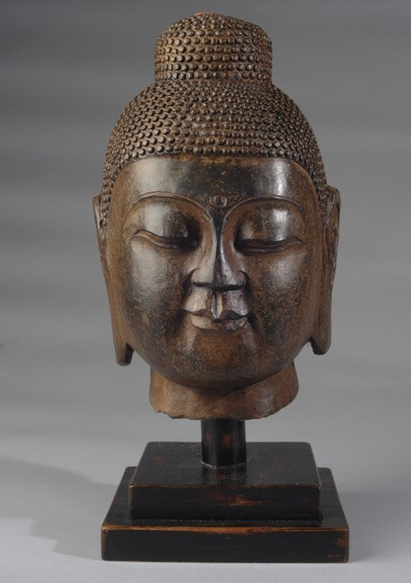 Early Bronze Buddha Head