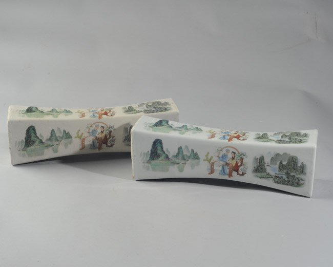Pair of Chinese Porcelain Pillows