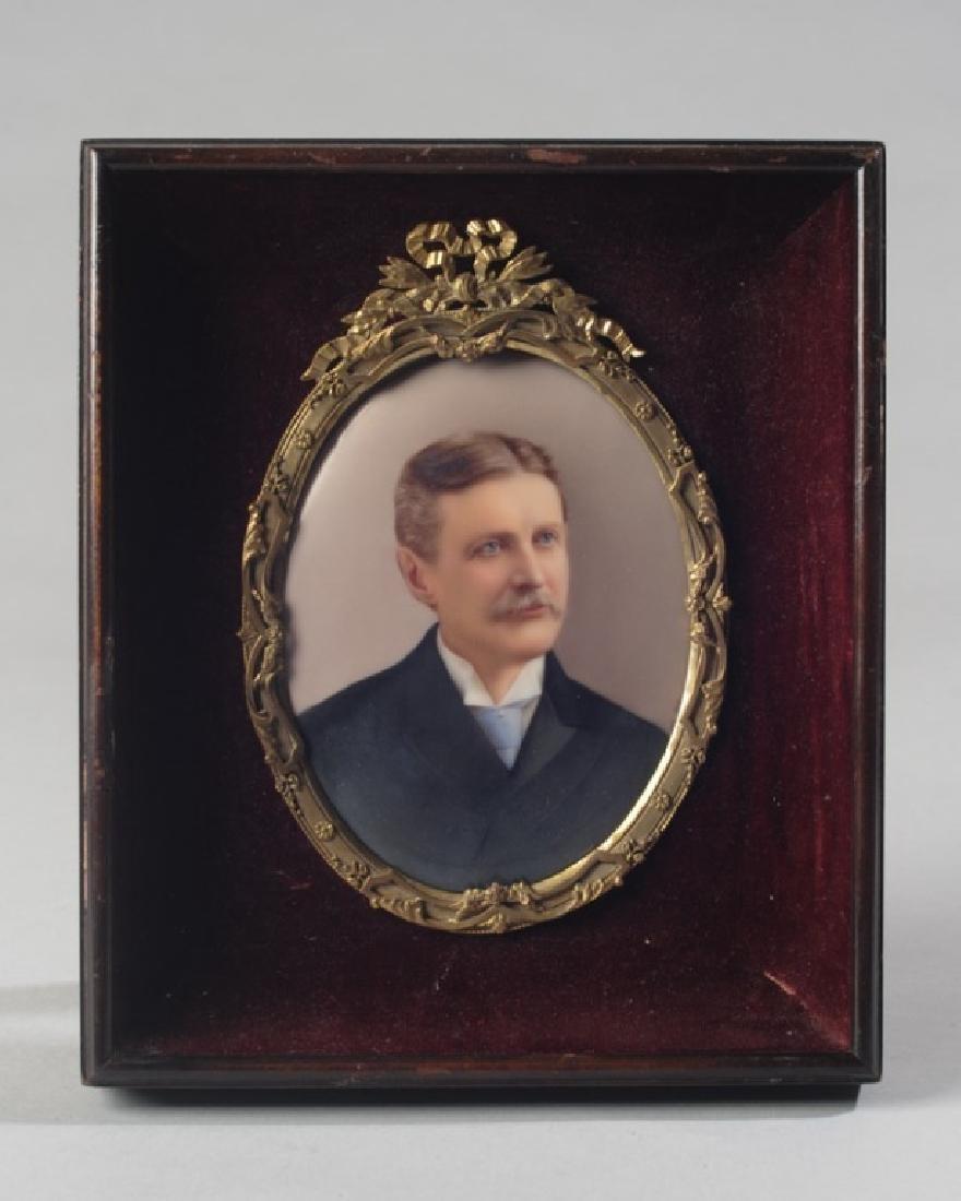 19th C. Portrait Miniature of Gentleman