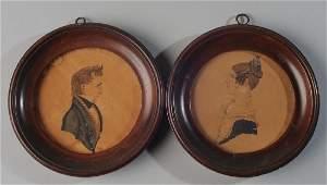 Rufus Porter (Attr.) 2 Portrait Miniatures