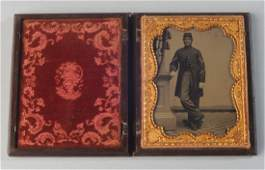 1/2 Plate Tintype of Union Sargeant