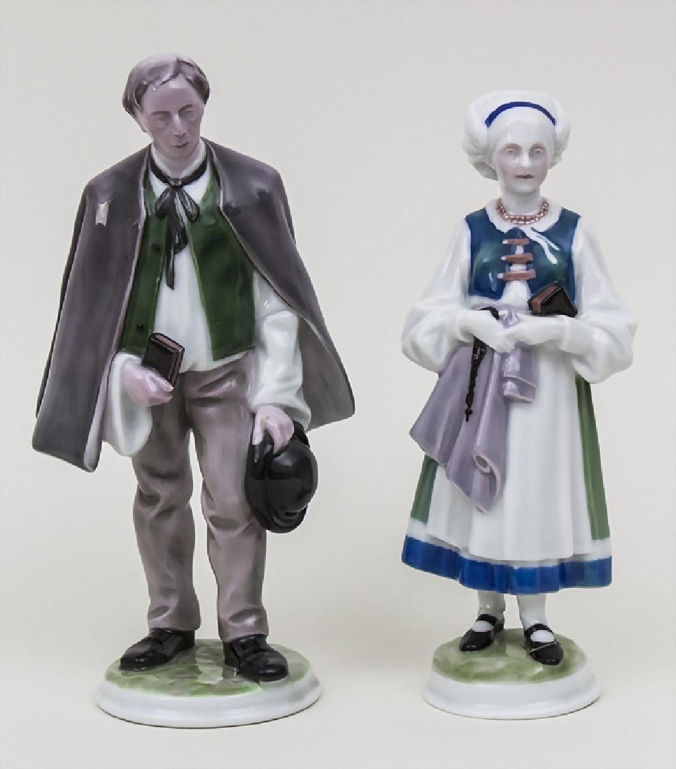 Figurenpaar 'Der Kirchgang' / A 'church going' couple,