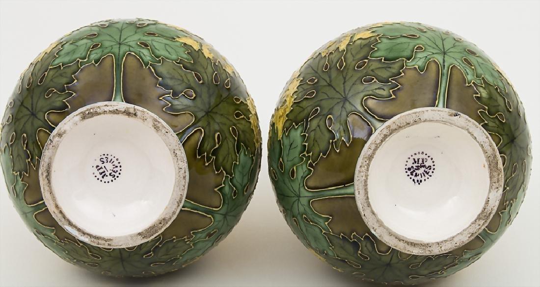 Paar Jugendstil Vasen / A pair of Art Nouveau vases, - 3