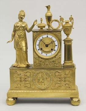 Pendule Epoque Restauration, Paris, ca. 1824 Gehäuse: