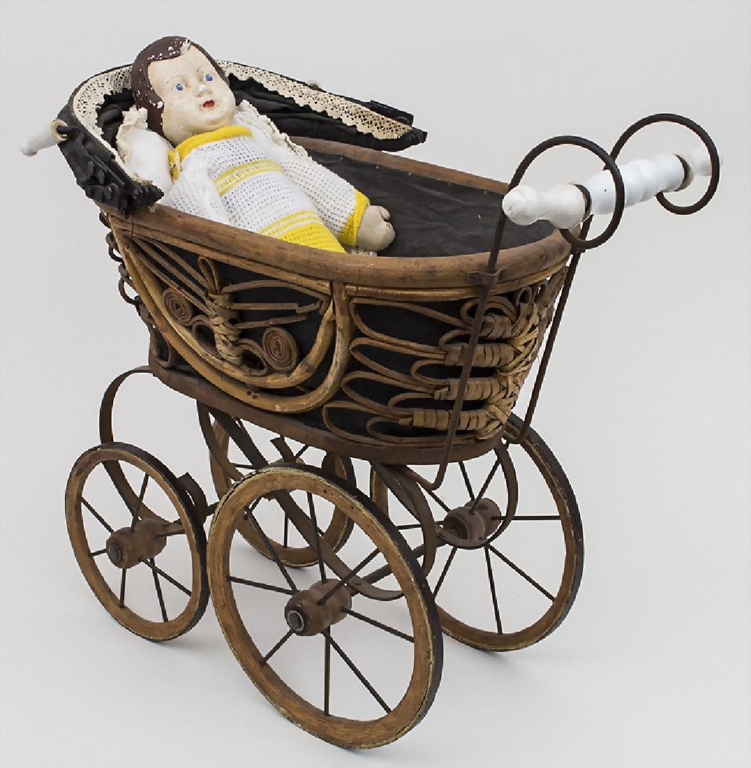 Puppenwagen mit Puppe / A doll buggy with doll,