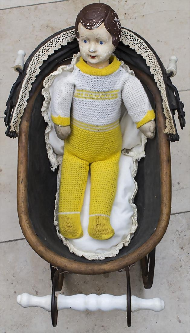Puppenwagen mit Puppe / A doll buggy with doll, - 2