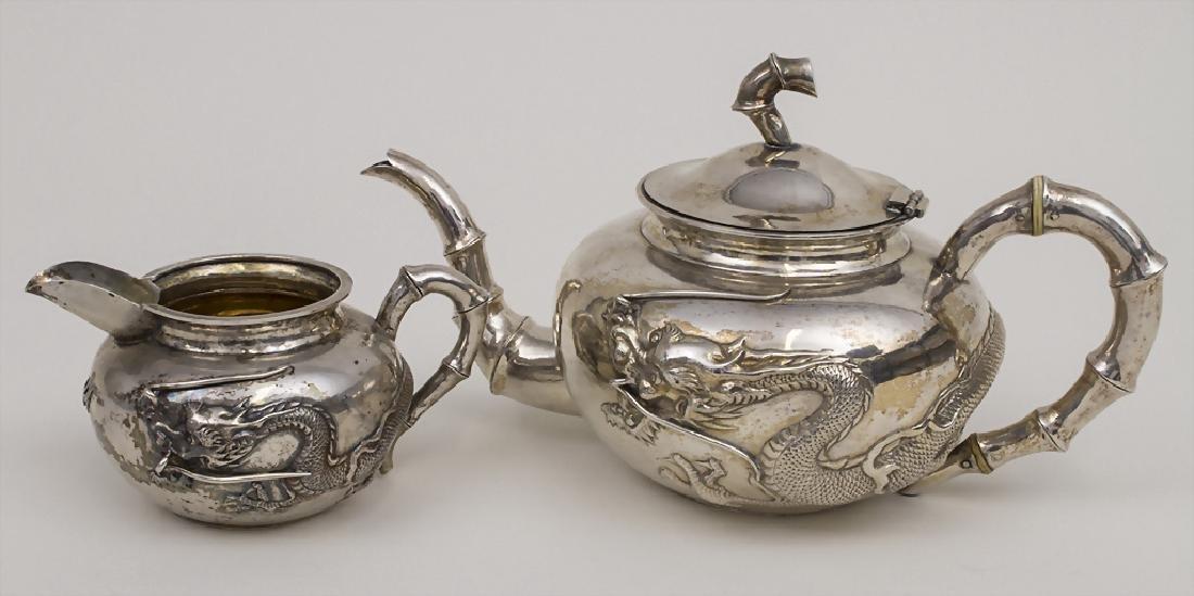 Teekanne und Sahnegießer / A Chinese export silver