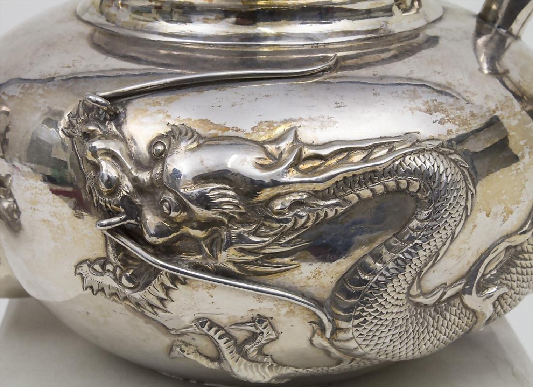Teekanne und Sahnegießer / A Chinese export silver - 3