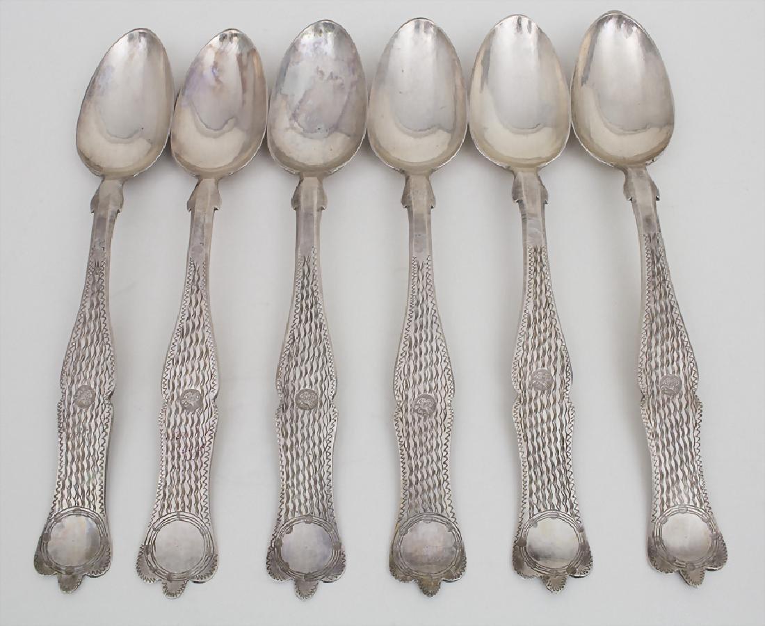 6 Löffel / A set of 6 spoons, Osmanisch/Türkei/Turkey,
