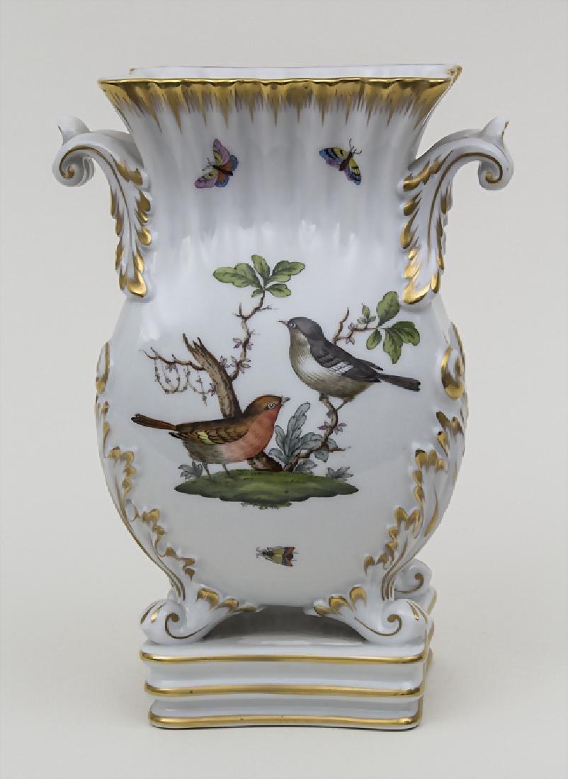 Ziervase mit Vogeldekor, Schmetterlingen und Insekten /