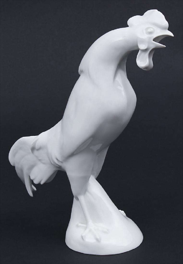 Krähender Hahn / A crowing cockerel, Meissen, um
