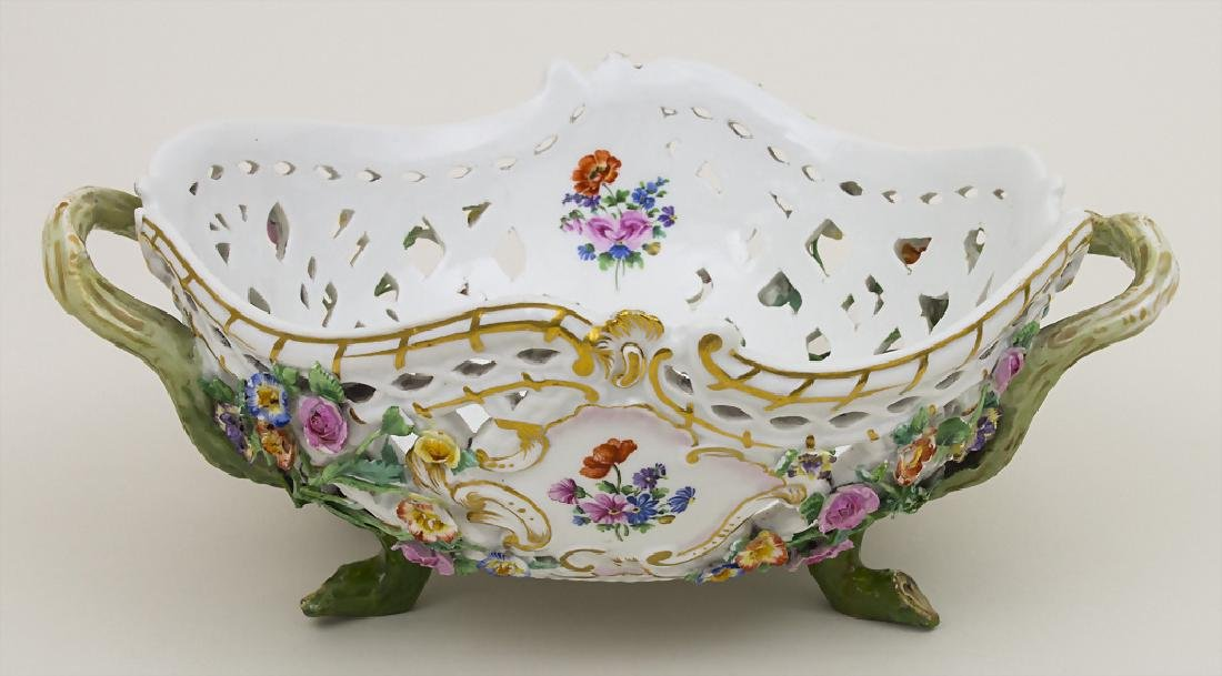 Korbschale / A basket shaped bowl, Meissen, um 1880