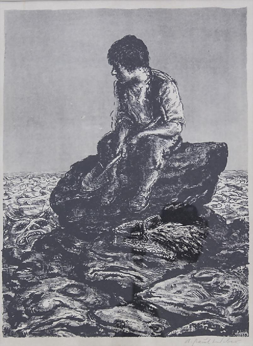 A. Paul Weber (1883/93-1980), 'Steine, nichts als