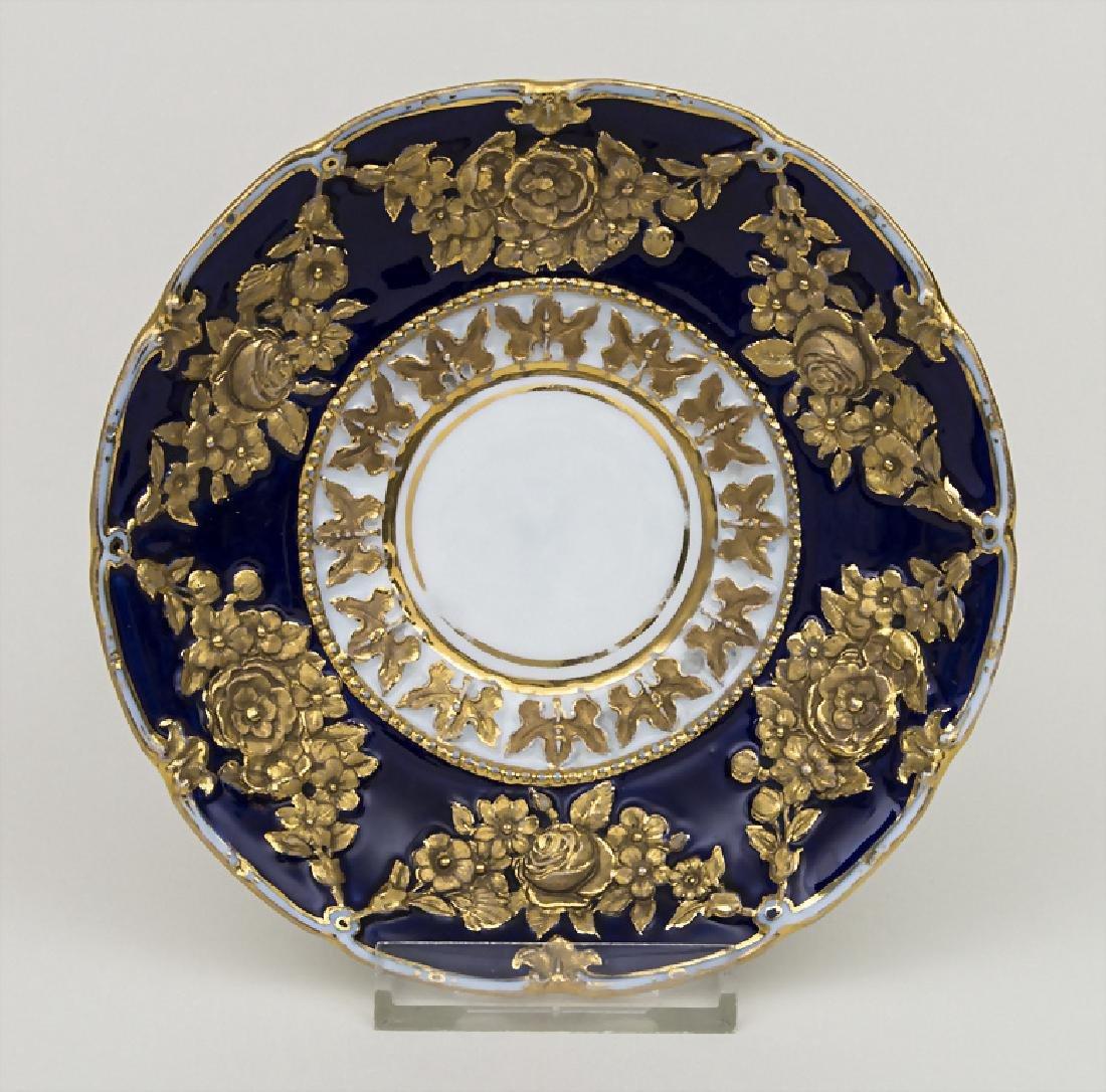Prunk Unterteller / A saucer, Meissen, um 1830