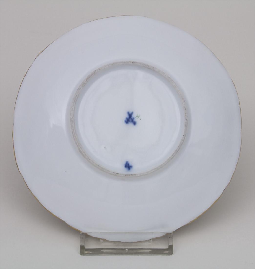 Prunk Unterteller / A saucer, Meissen, um 1830 - 2