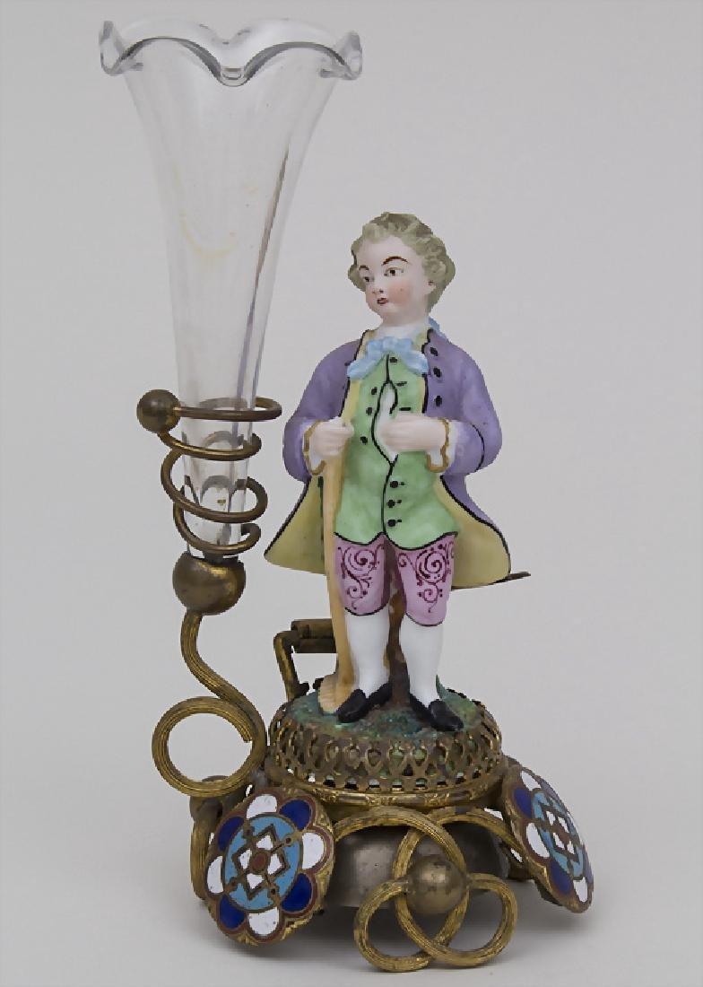 Dienstbotenklingel mit Figur und Vase / A servant's