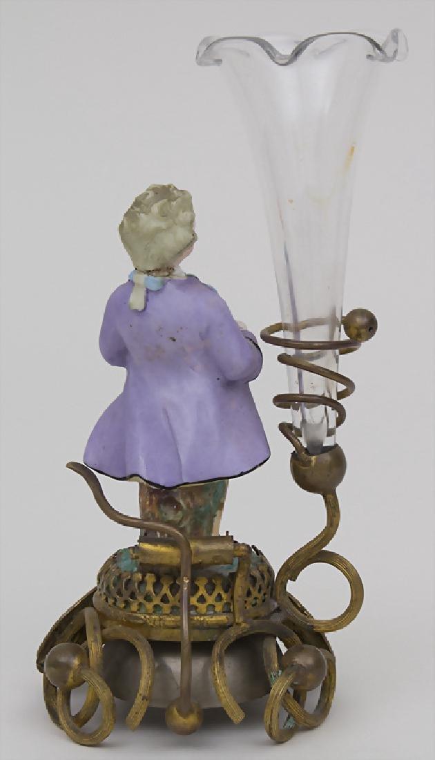 Dienstbotenklingel mit Figur und Vase / A servant's - 2