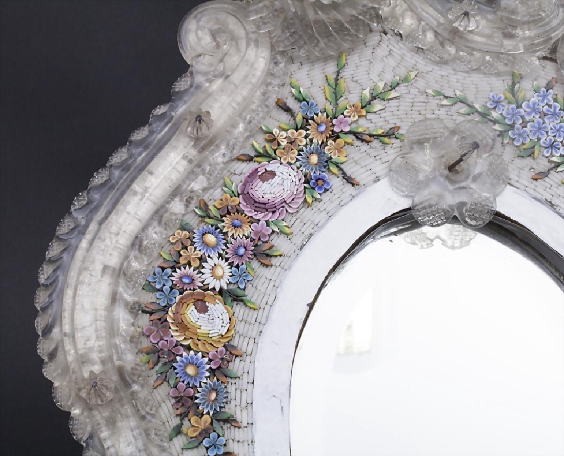 Tischspiegel mit floralem Mikromosaik / A table mirror - 2