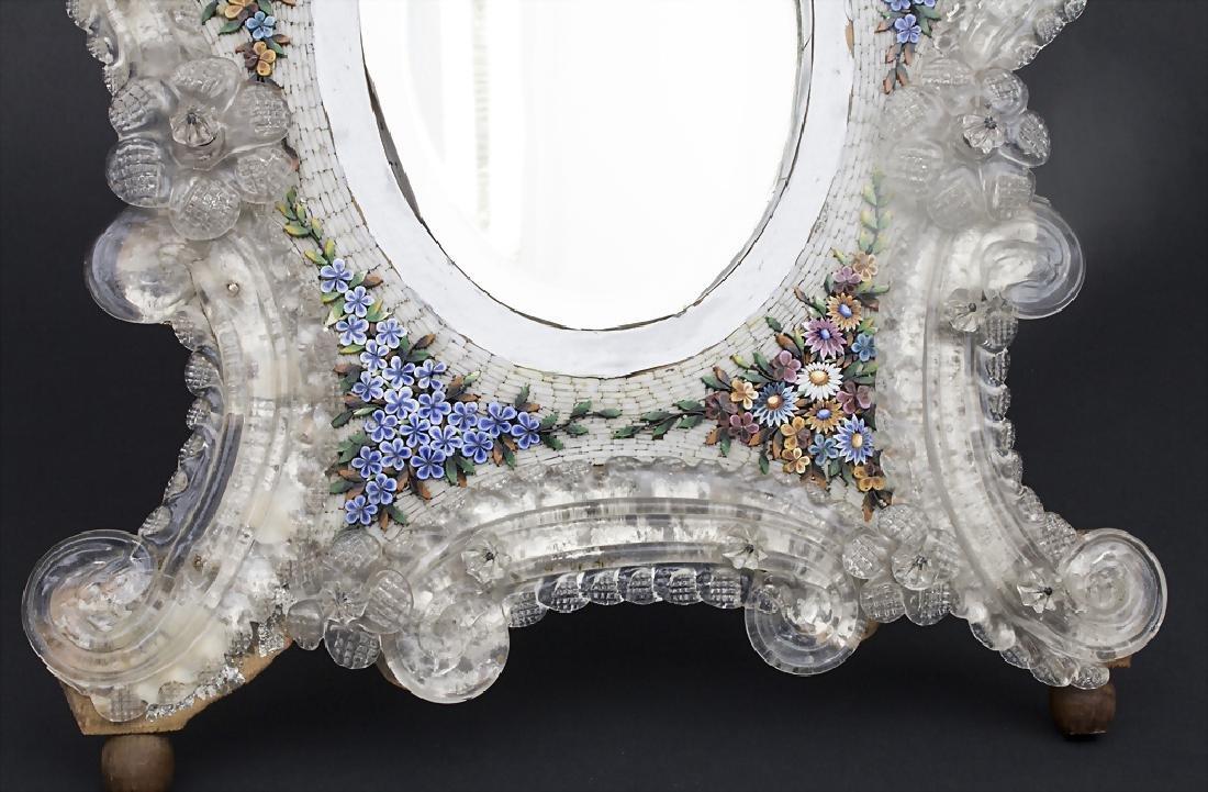 Tischspiegel mit floralem Mikromosaik / A table mirror - 4