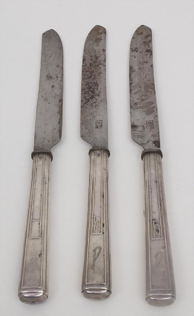 3 Menümesser / 3 menu knives, Joseph Maria Olbrich,
