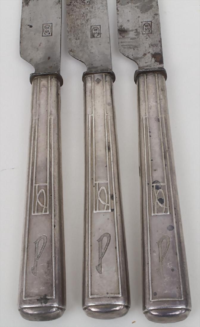3 Menümesser / 3 menu knives, Joseph Maria Olbrich, - 2