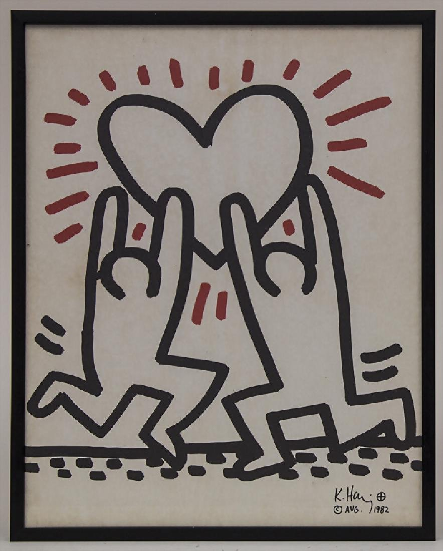 Keith Haring (1958-1990), 1 Blatt der Serie 'Bayer
